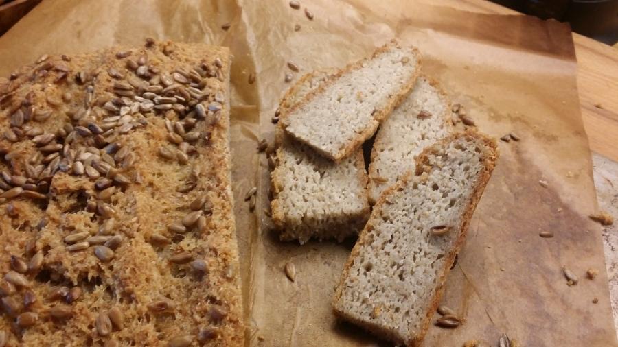 Pão crocante, sem gluten e semlactose